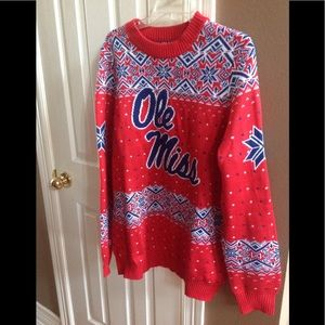 Rare Ole Miss Men's Sweater, Size XL, NWOT.